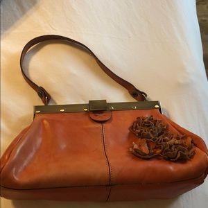 Handbags - peachy Purse Italian Leather!